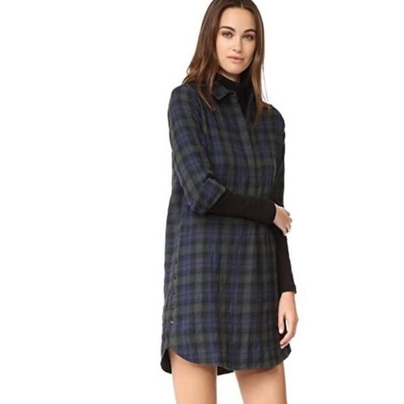 Madewell Dresses   Skirts - Madewell side button shirt dress plaid size  small 5927421d0